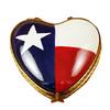 Heart - Texas Flag Rochard Limoges Box