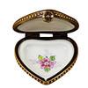 Mini Heart Roses On Blue Base Rochard Limoges Box