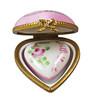 Small Pink Heart W/Heart Rochard Limoges Box