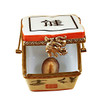 Chinese Take Out W/Calligraphy Rochard Limoges Box