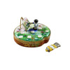 Monet Palette With Artist And Painting With Removable Tube Of Paint Limoges Box (RK212-K)