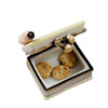Cookbook W/Rolling Pin Limoges Box