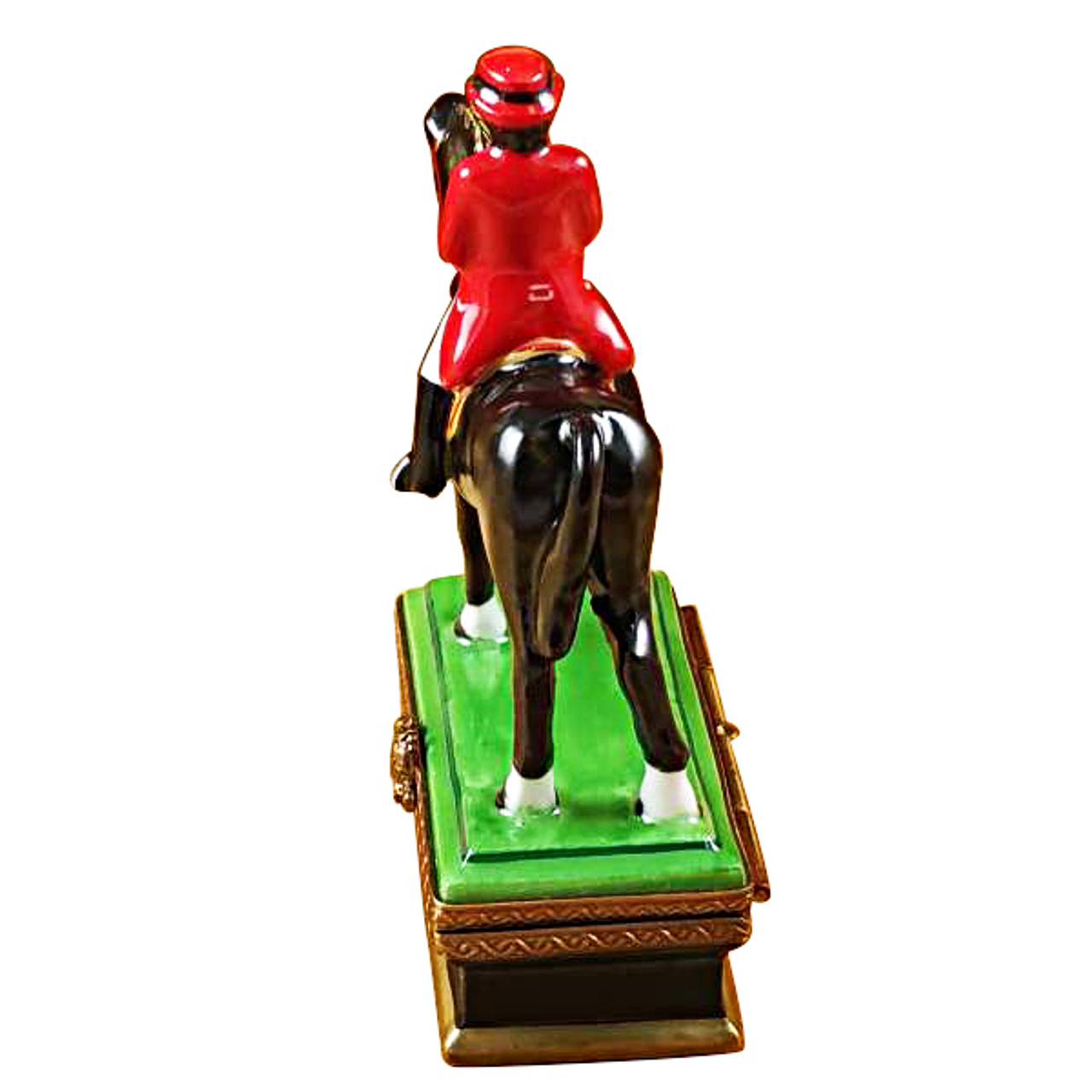 Horse With Rider - Dressage Rochard Limoges Box