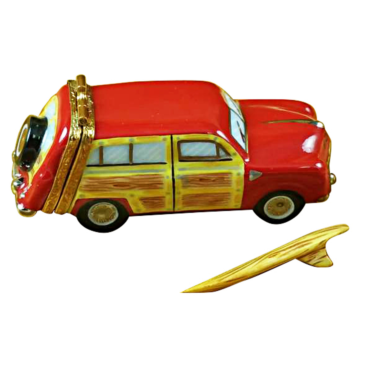 Woodie With Surf Board Rochard Limoges Box