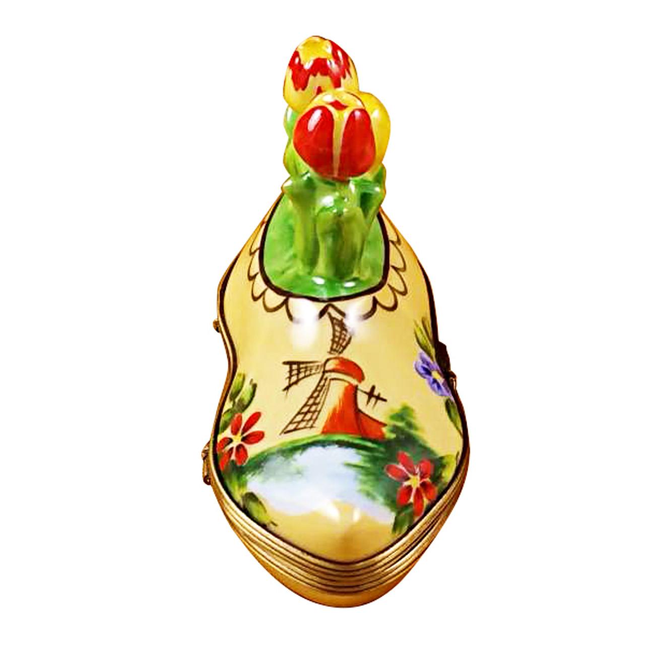 Dutch Clog With Tulips Rochard Limoges Box