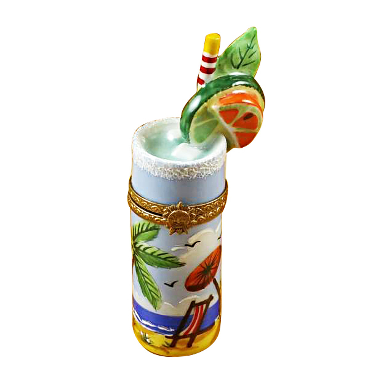 Tropical Cocktail Glass Rochard Limoges Box RW086-L