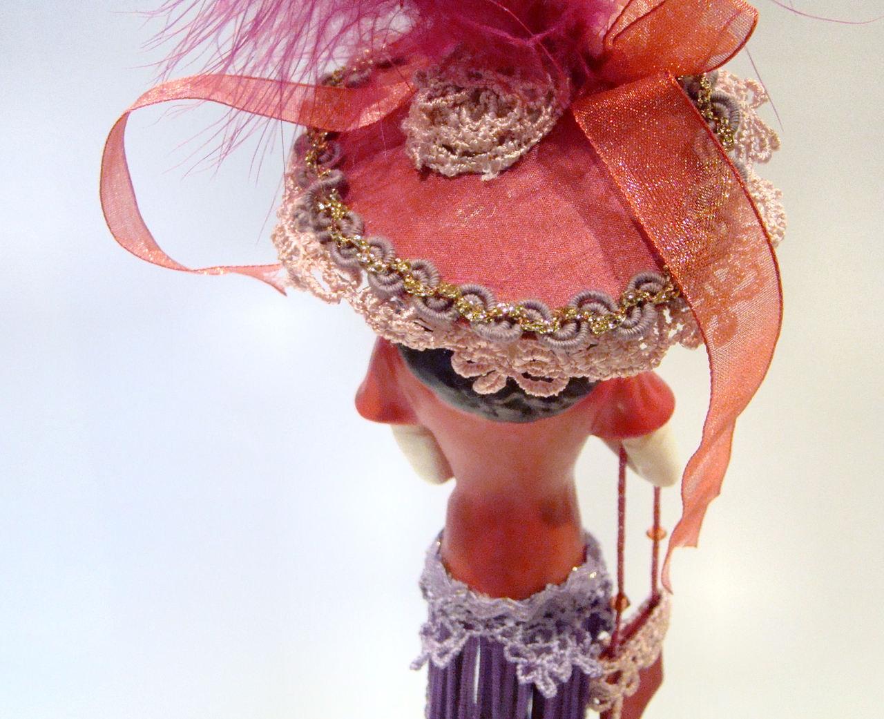 Red Hat with Purple Tassels Tassel Doll