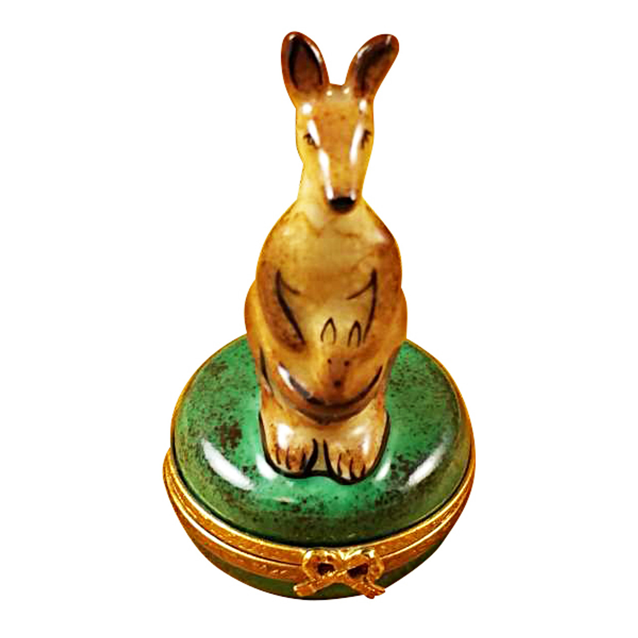 Limoges Imports Kangaroo On Round Box Limoges Box