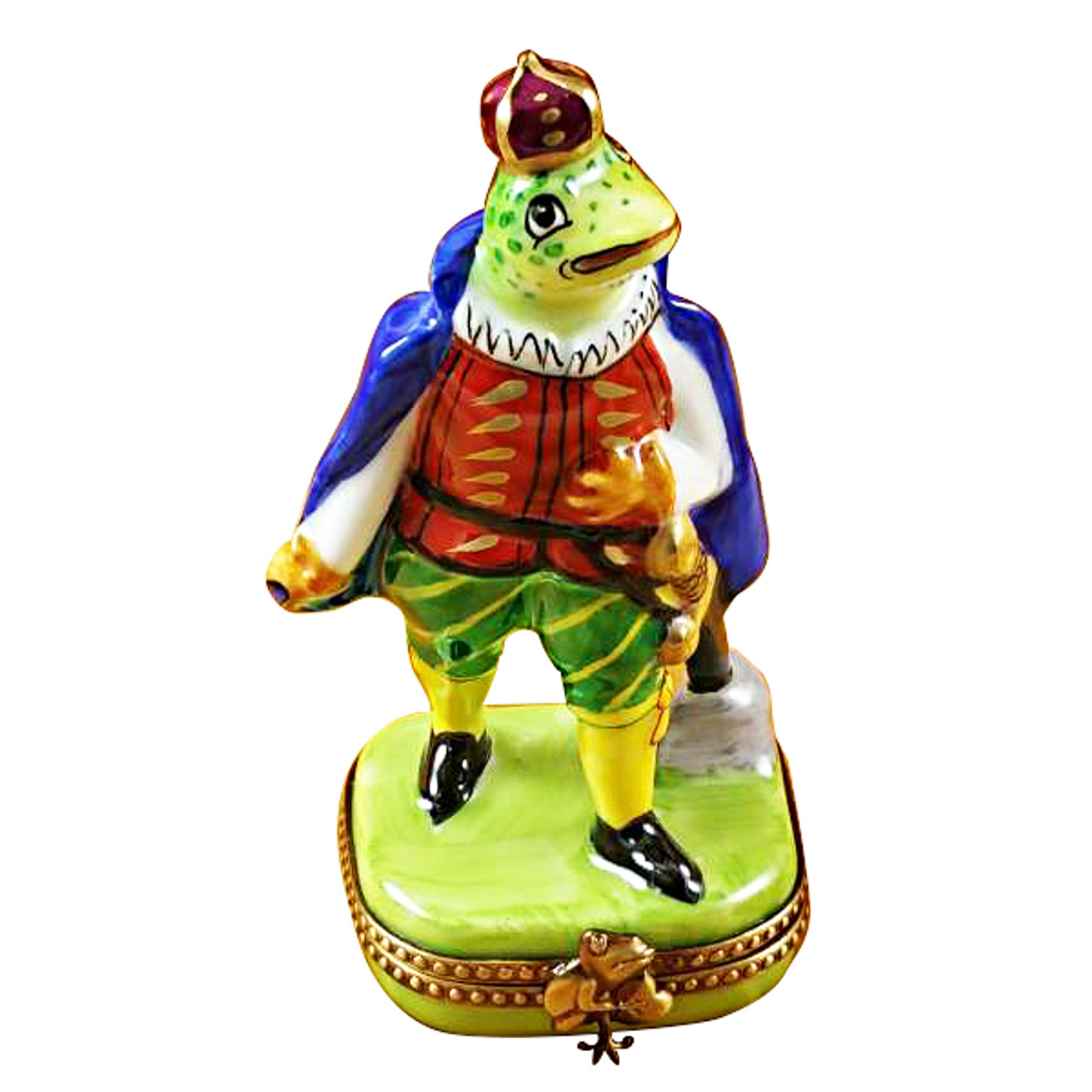 Limoges Imports Tall Frog Prince Limoges Box