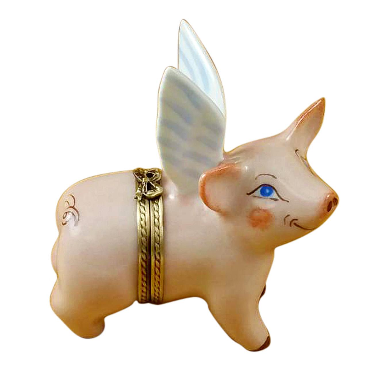 Limoges Imports Flying Pig Limoges Box