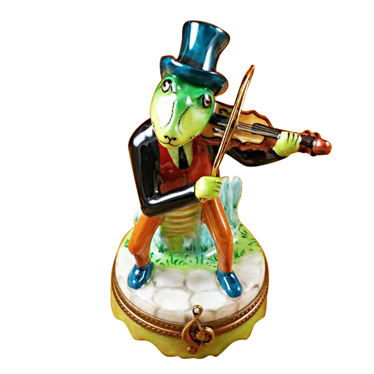 Limoges Imports Cricket With Violin Limoges Box