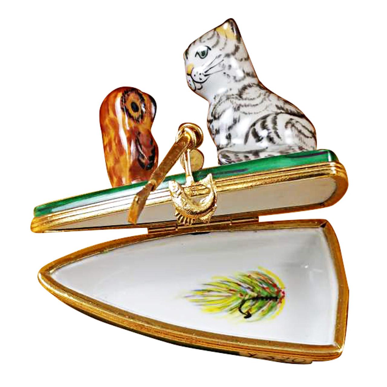 Limoges Imports Owl & Pussycat Limoges Box