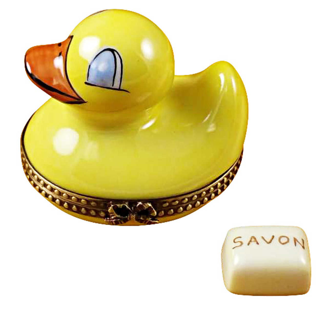 Limoges Imports Duck W/ Soap Limoges Box