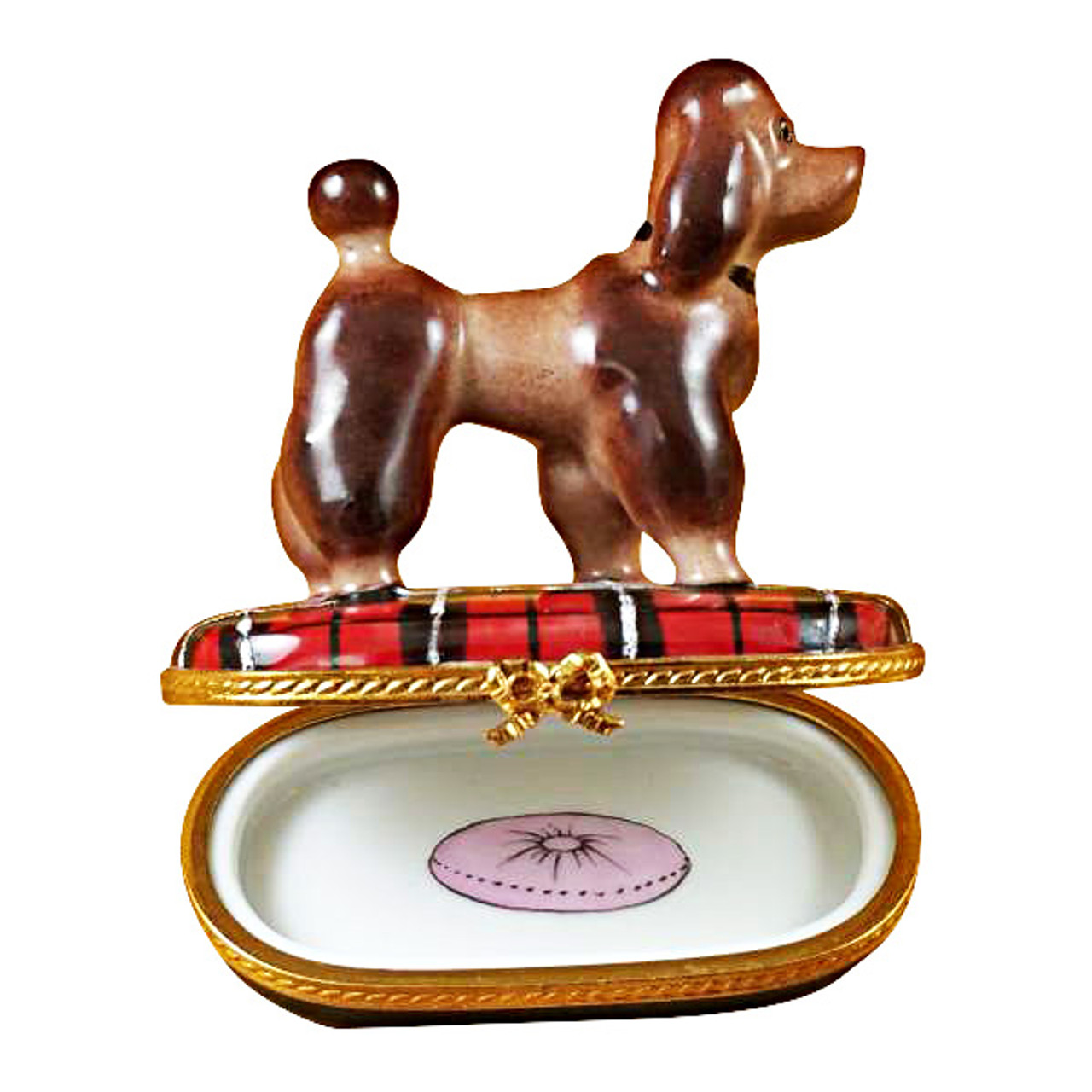 Limoges Imports Chocolate Poodle Limoges Box