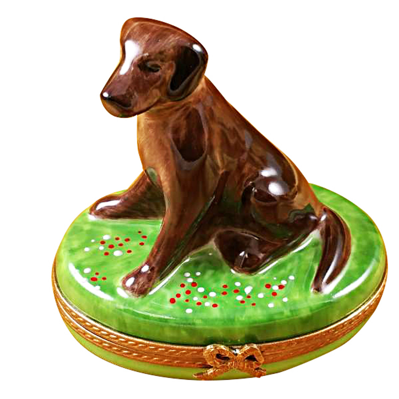 Limoges Imports Chocolate Lab Limoges Box