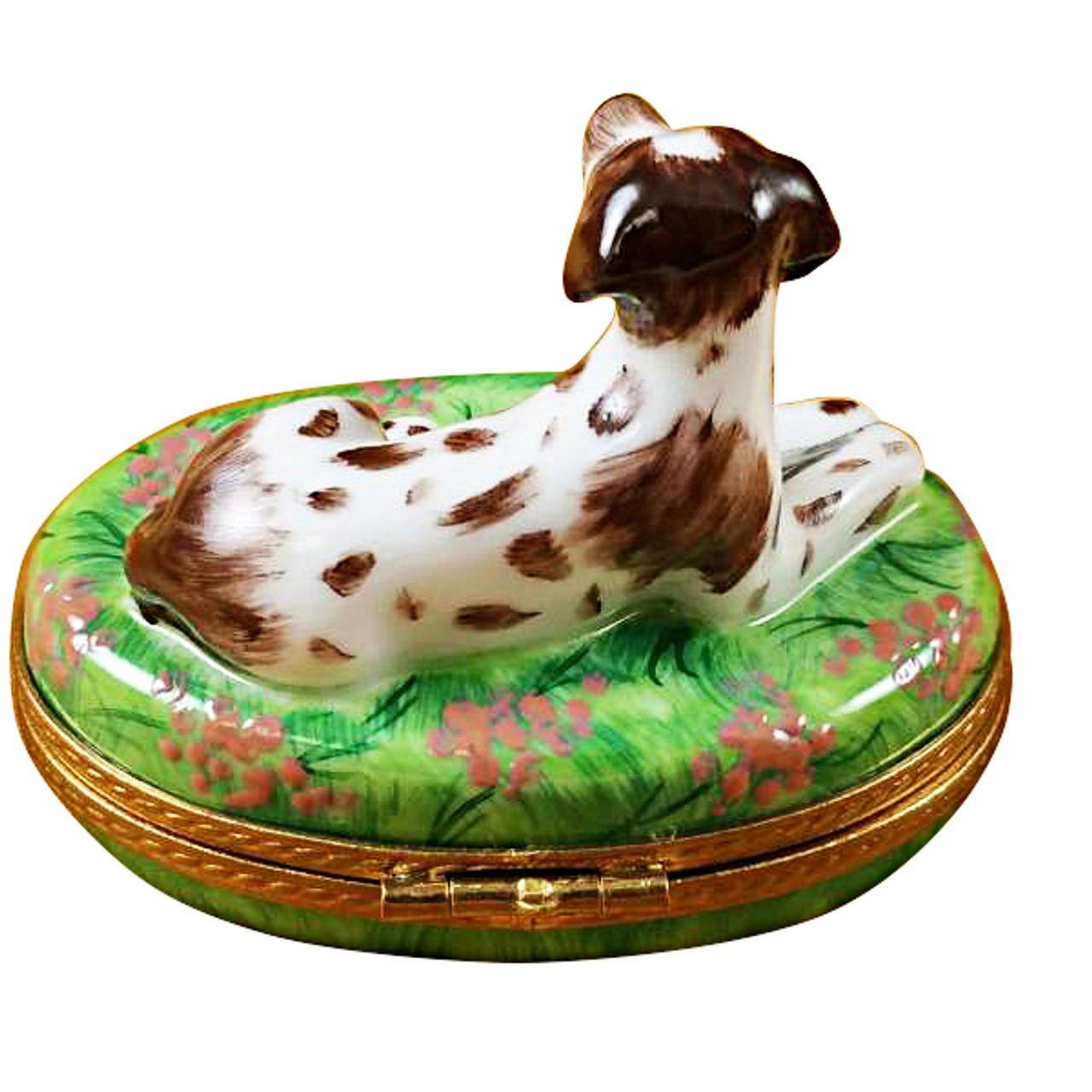 Limoges Imports Pointer Dog Limoges Box