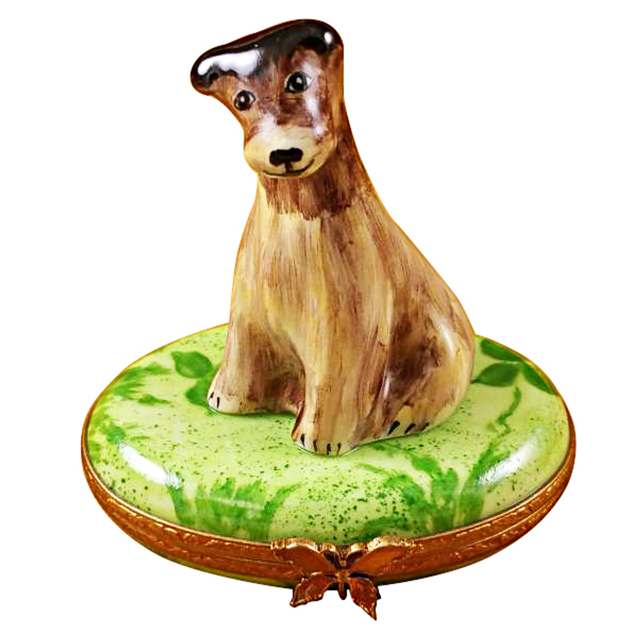 Limoges Imports Wire Fox Terrier Limoges Box