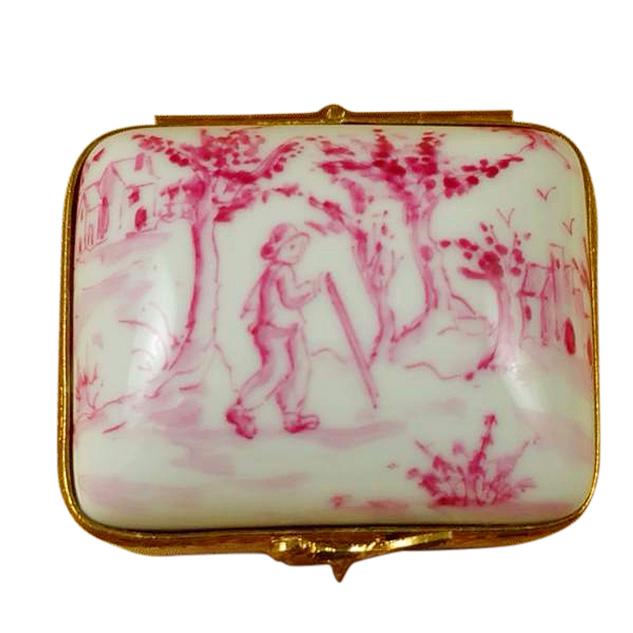 Limoges Imports Pink Toille Box Limoges Box