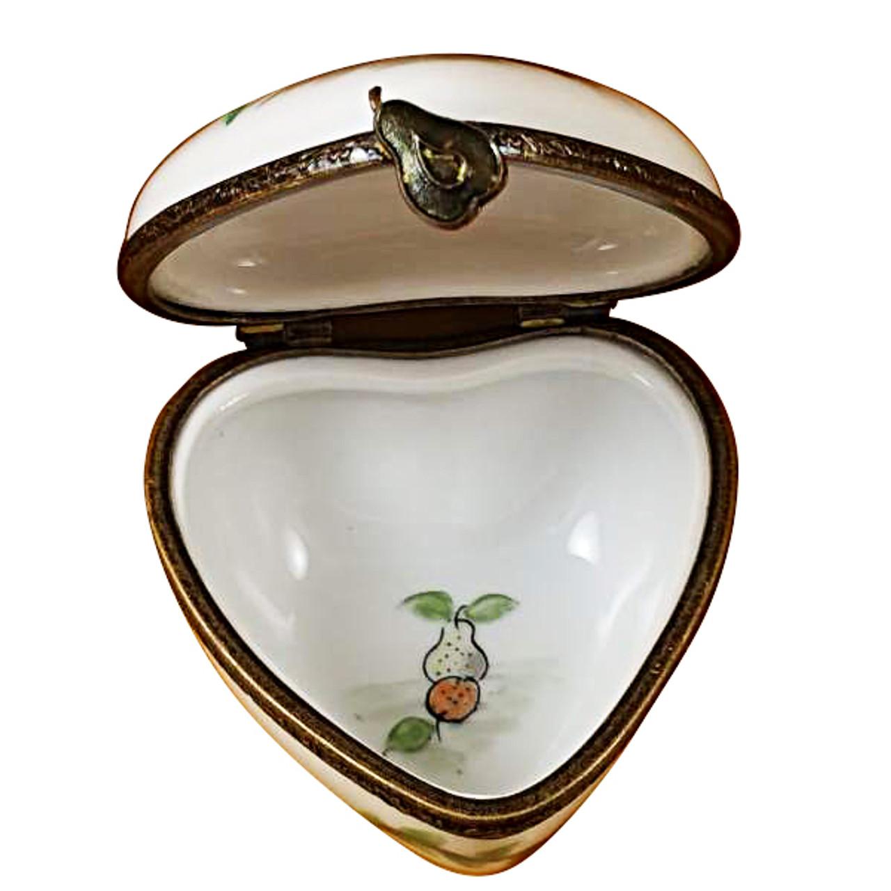 Limoges Imports Heart With Fruit Basket Limoges Box