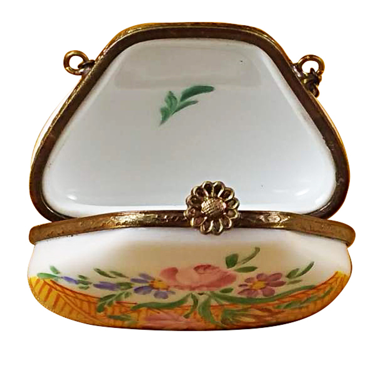 Limoges Imports Yellow Purse Limoges Box