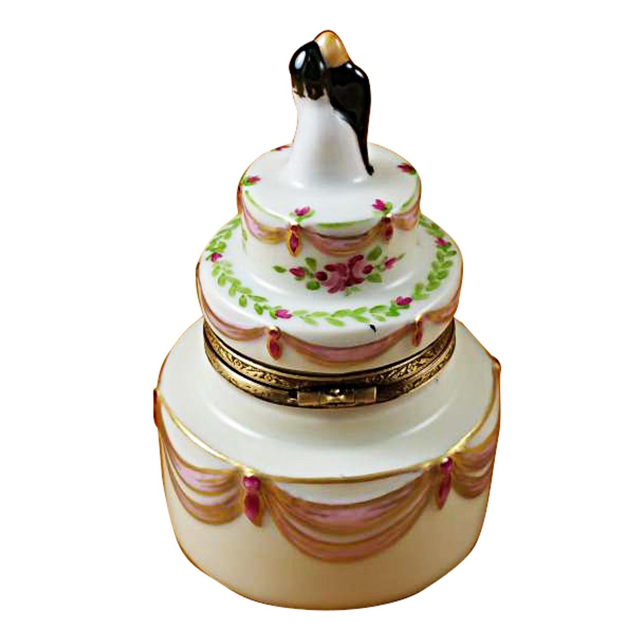 Limoges Imports Bride & Groom Wedding Cake Limoges Box