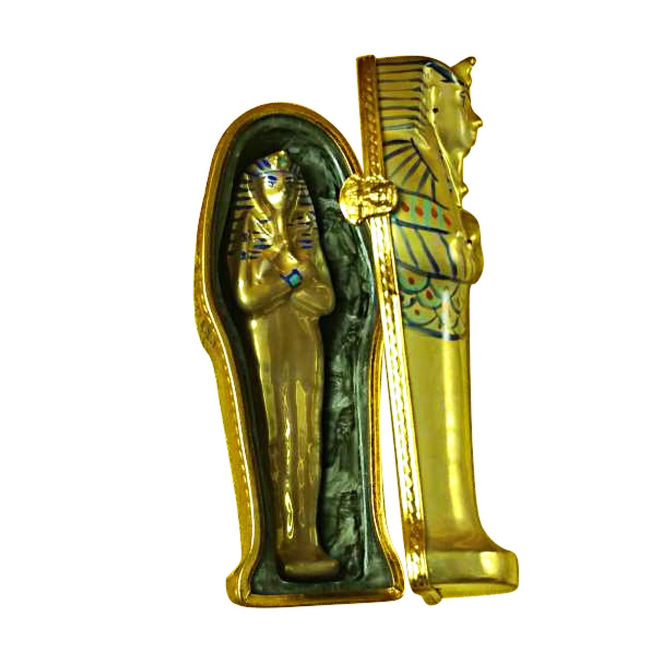 Limoges Imports Sarcophagus W/Mummy Limoges Box