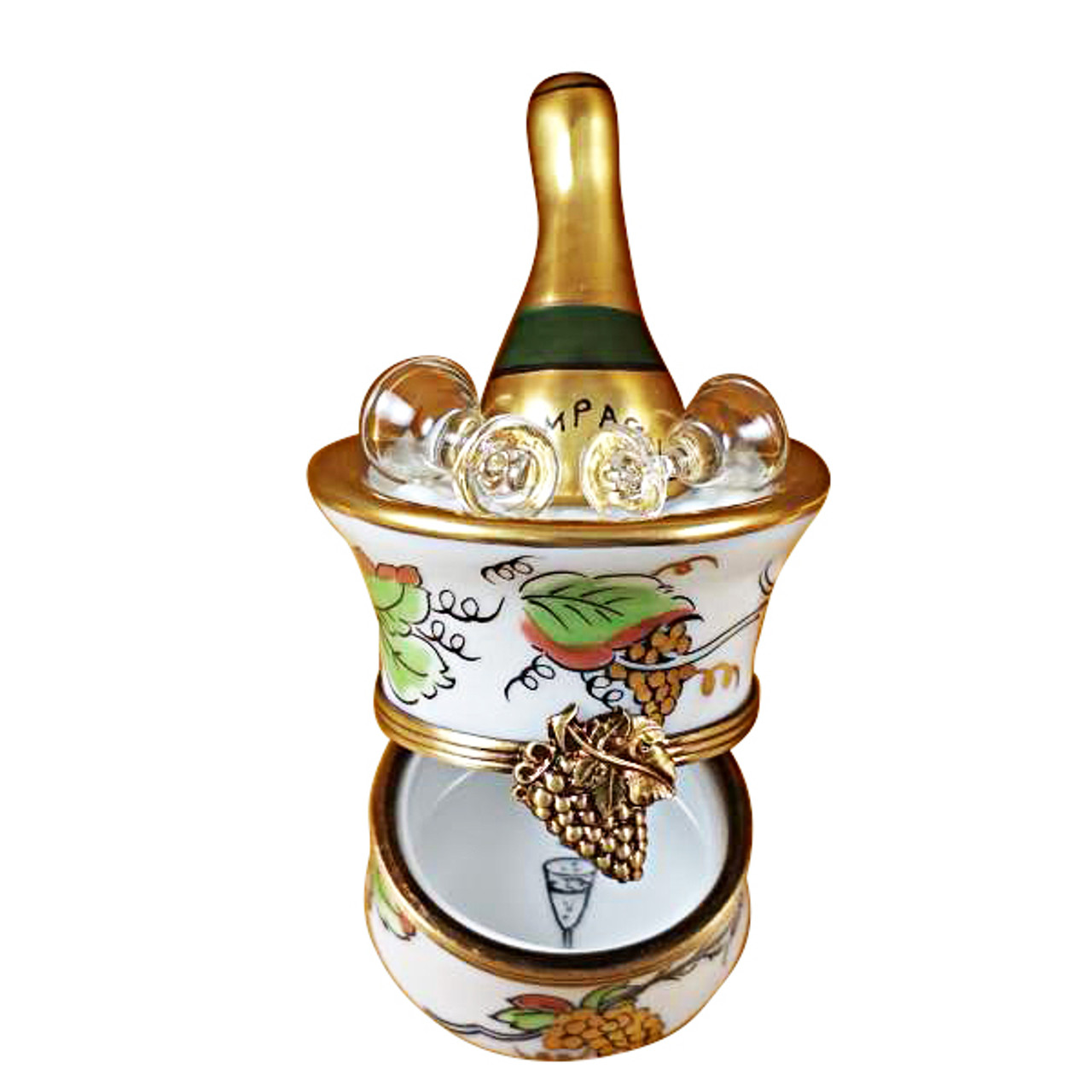 Limoges Imports Champagne Grapes Bucket Limoges Box