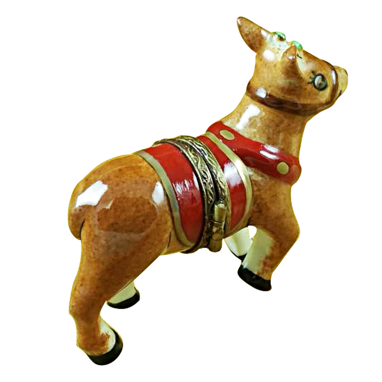 Limoges Imports Red Nose Rudolph Limoges Box
