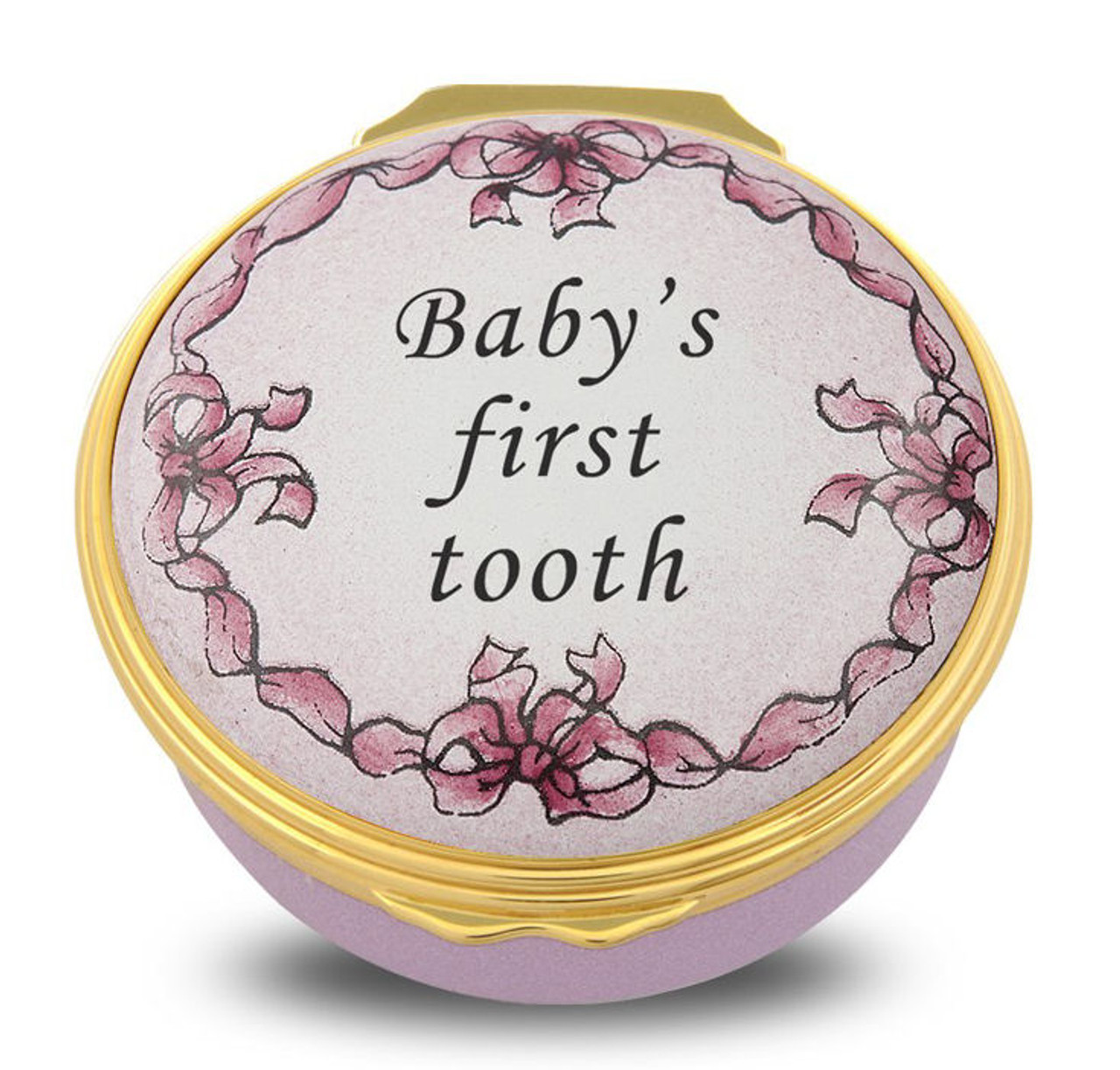 Halcyon Days Baby's First Tooth Pink ENBFT2601G