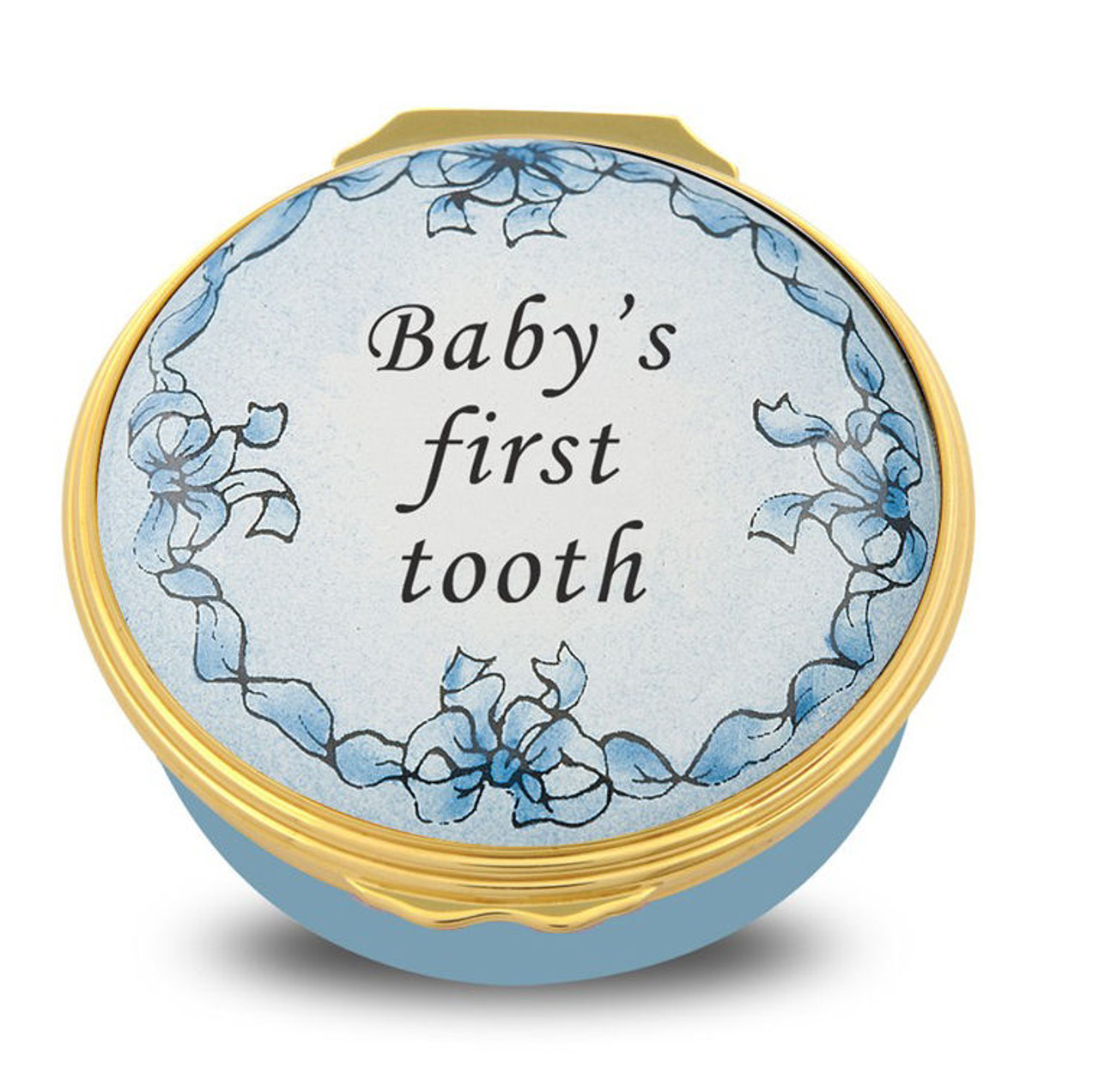 Halcyon Days Baby's First Tooth Blue ENBFT1201G