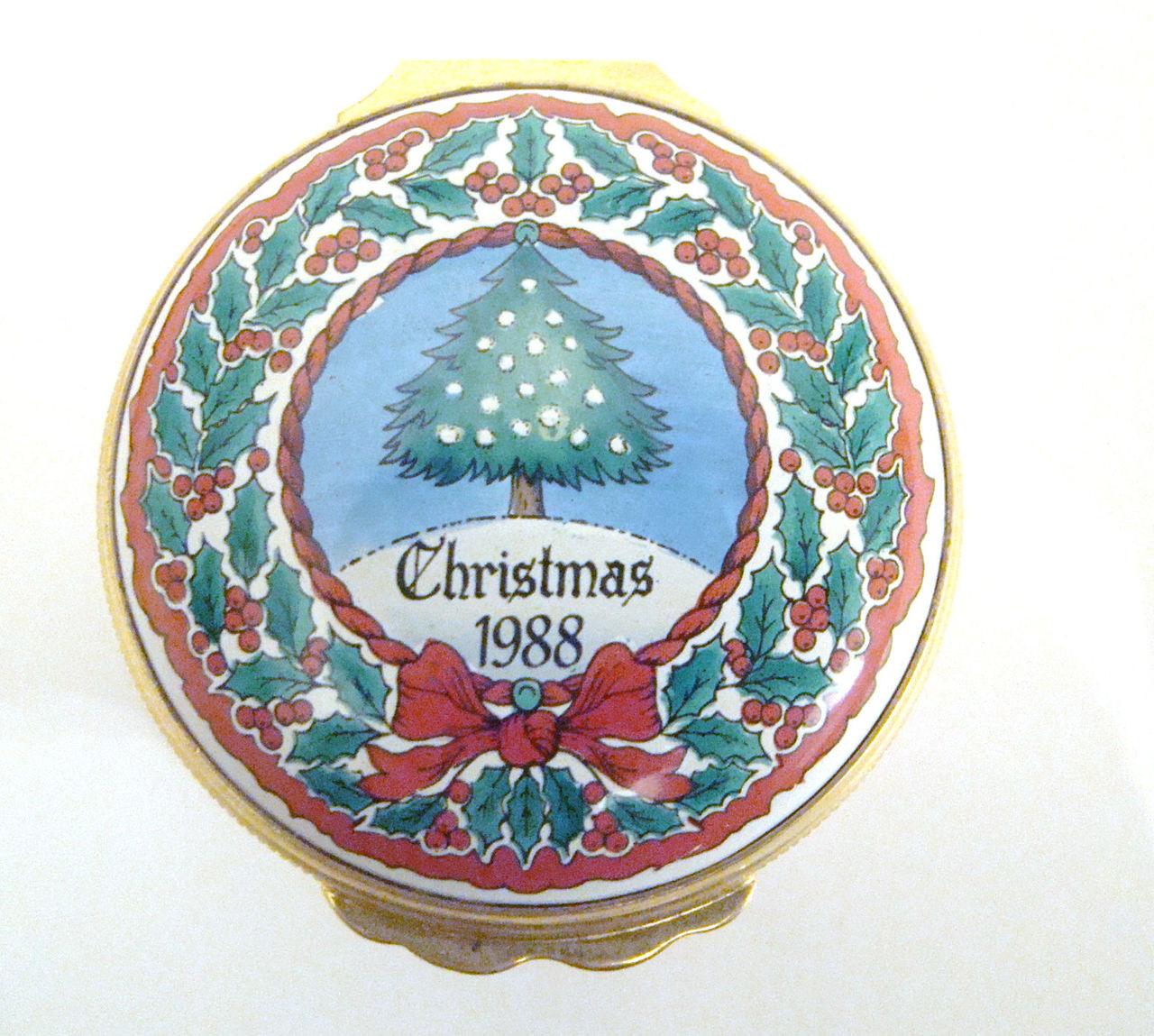 Halcyon Days 1988 Christmas Box