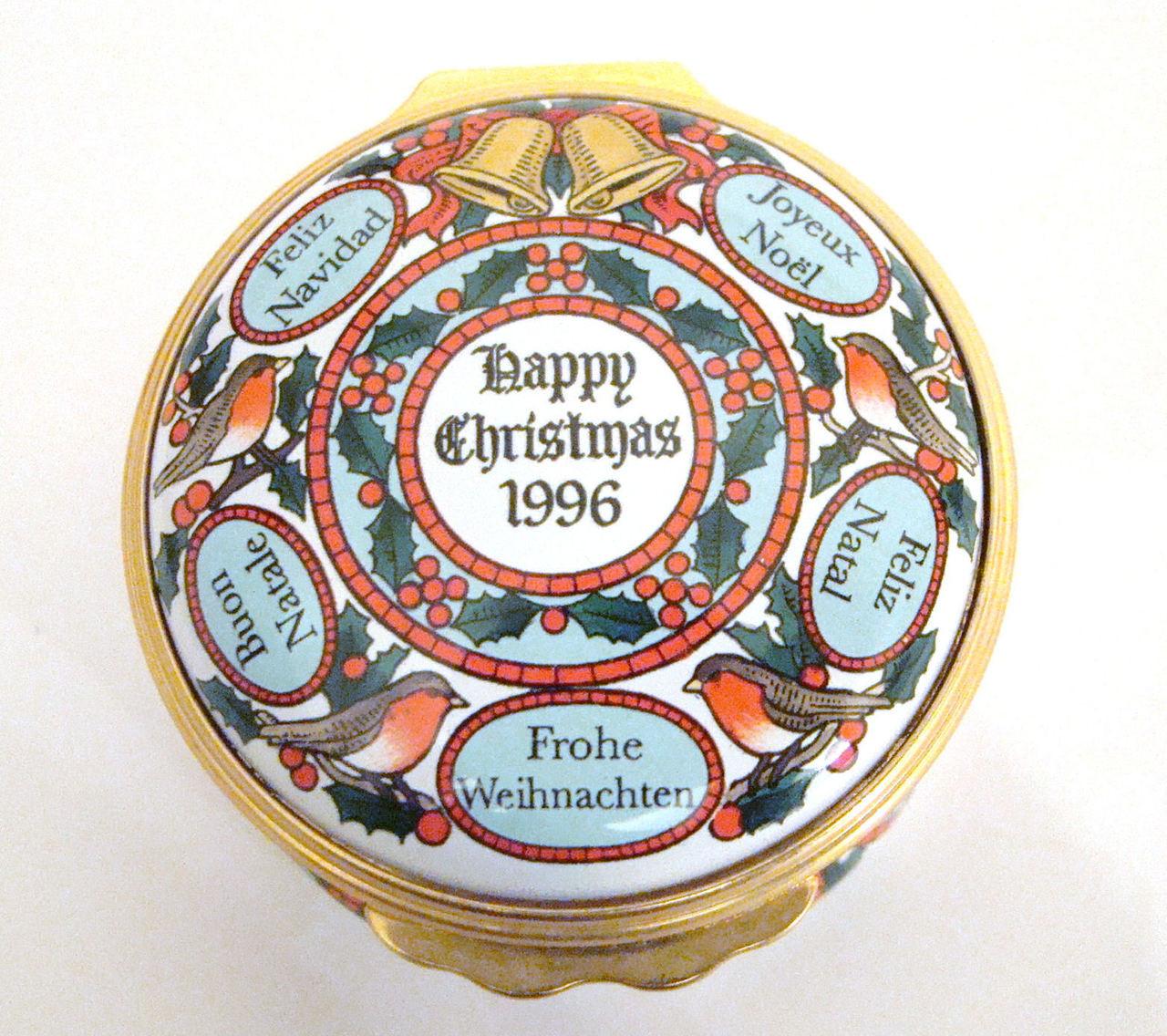 Halcyon Days 1996 Christmas Box