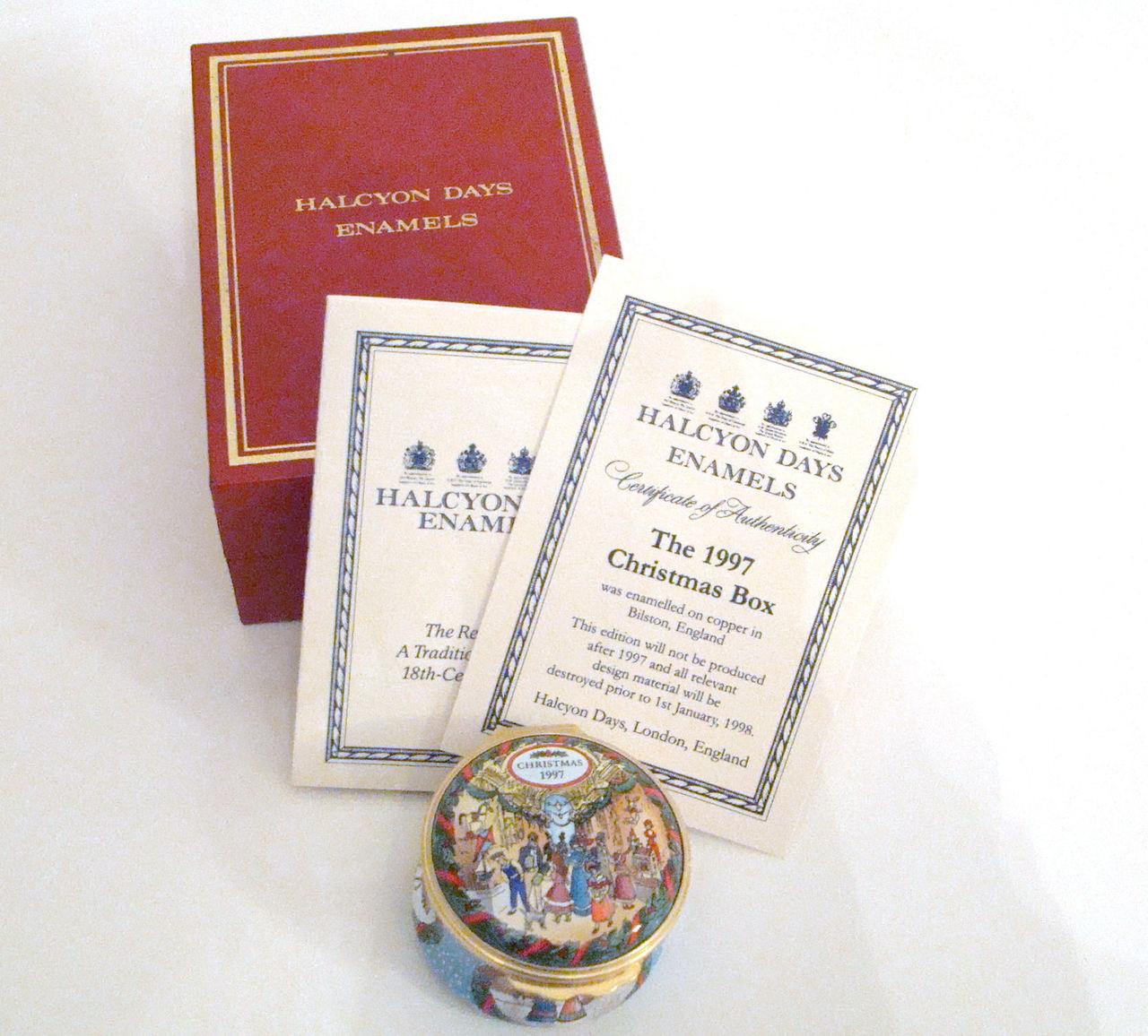 Halcyon Days 1997 Christmas Box