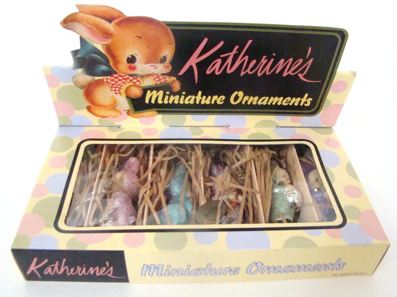 Katherine's Collection Bunny Rabbit Kid Ornaments Set of 6