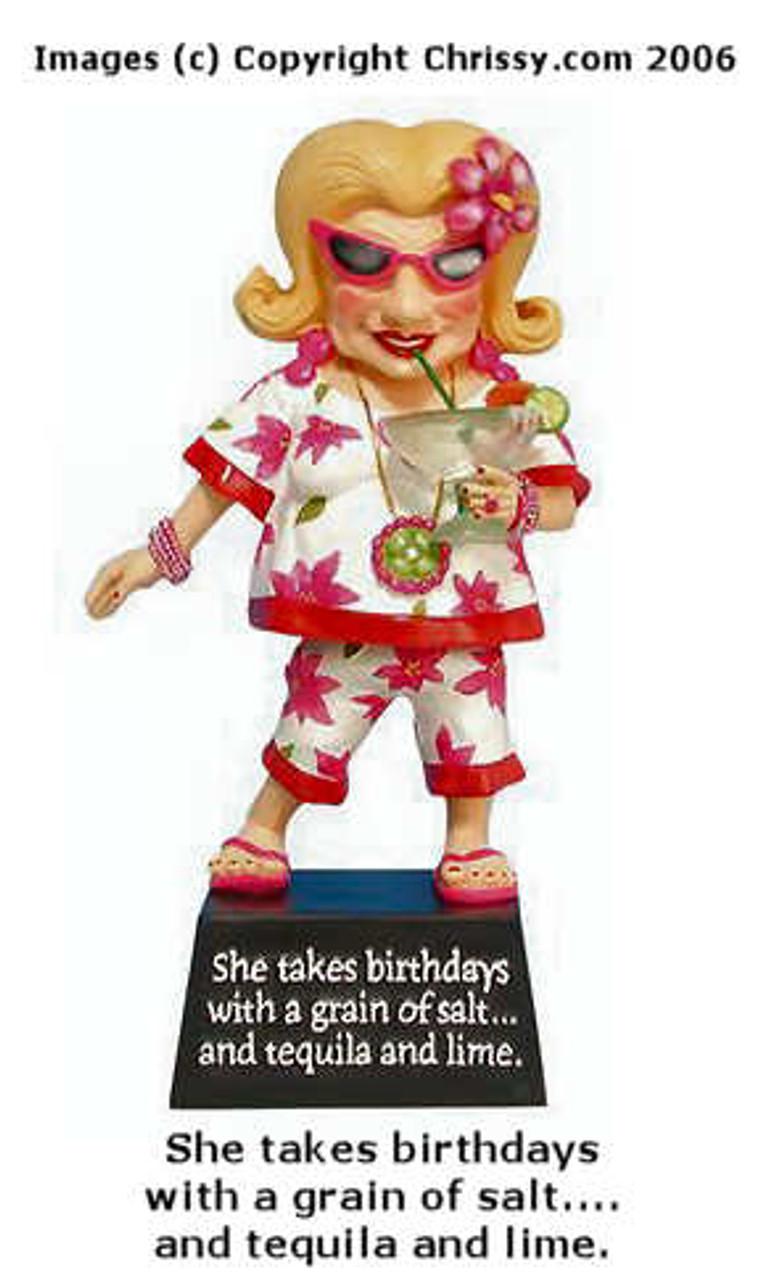 Tequila Birthday Bobble Biddy Figurine Biddy Biddys And Coots Christine S Closet