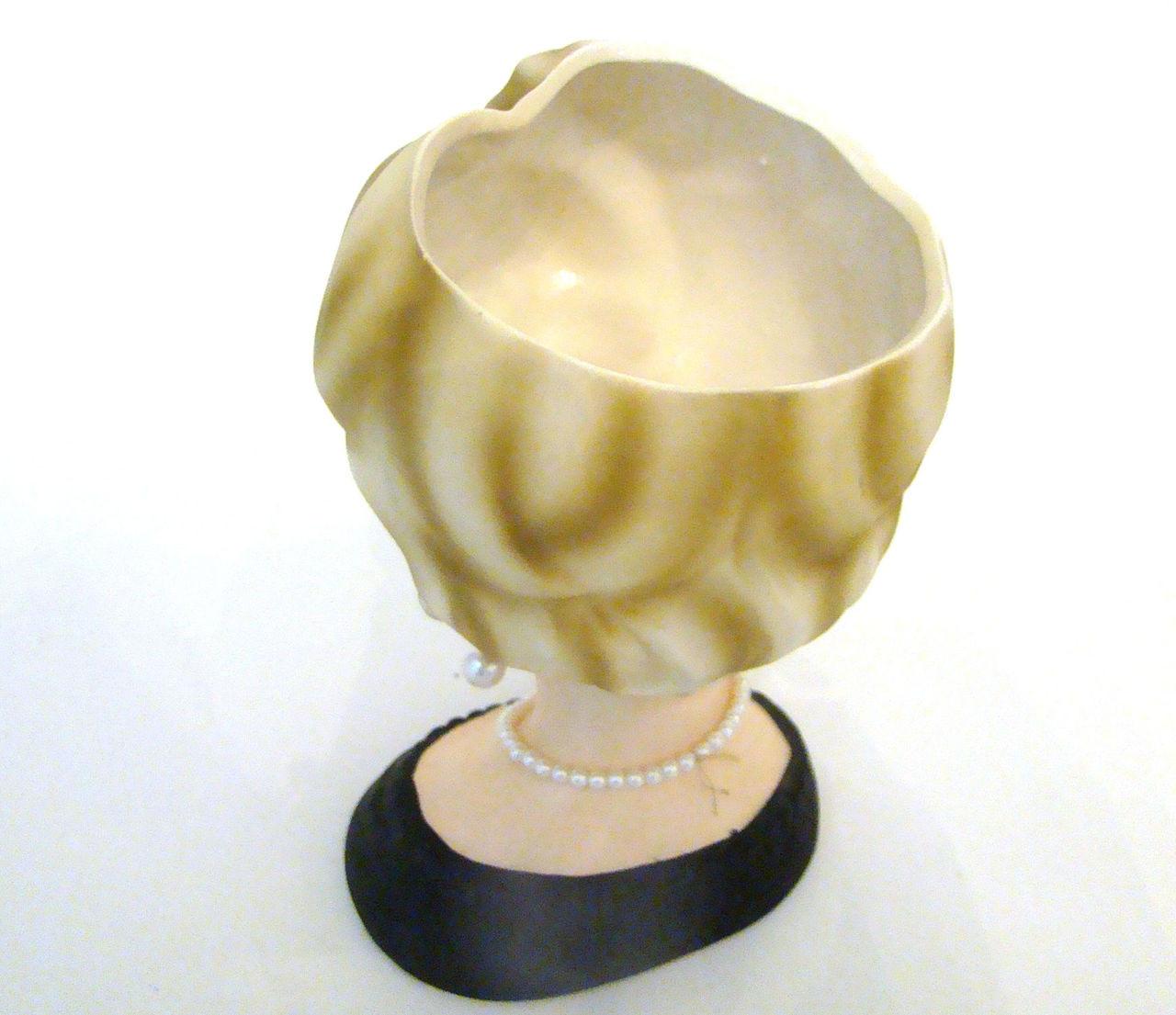 "Antique Lady Head Vase Enesco 7 1/4"""