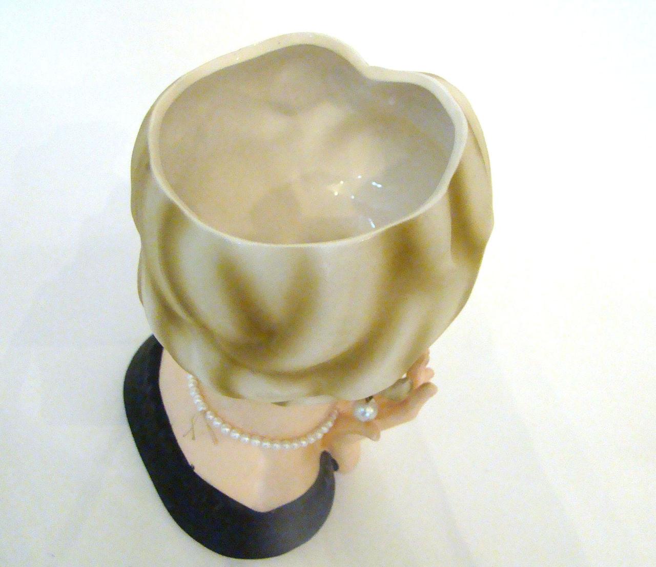 "Vintage Lady Head Vase Enesco 7 1/4"""
