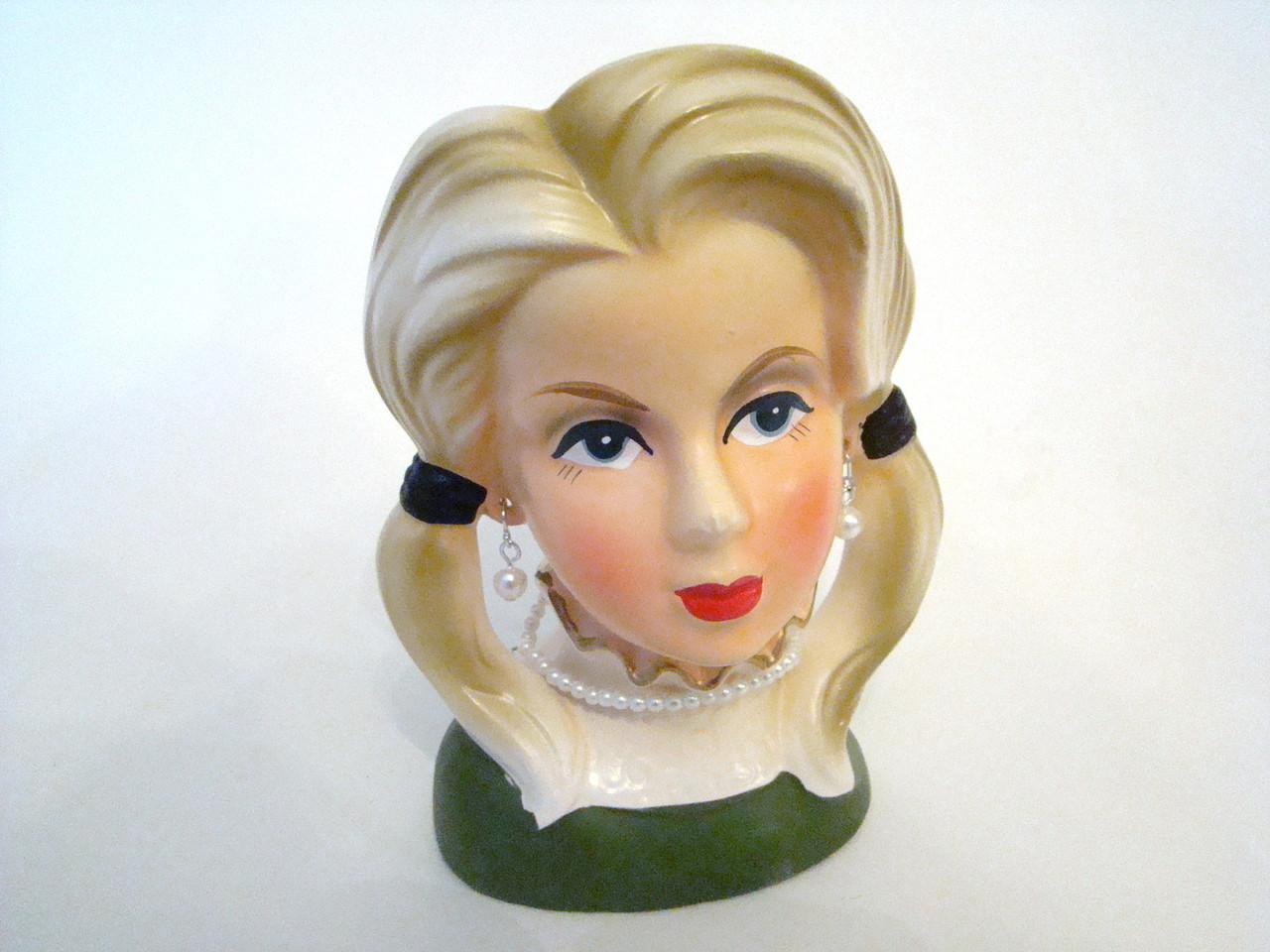Vintage Lady Head Vase SET of 3 JAPAN Rubens 4129