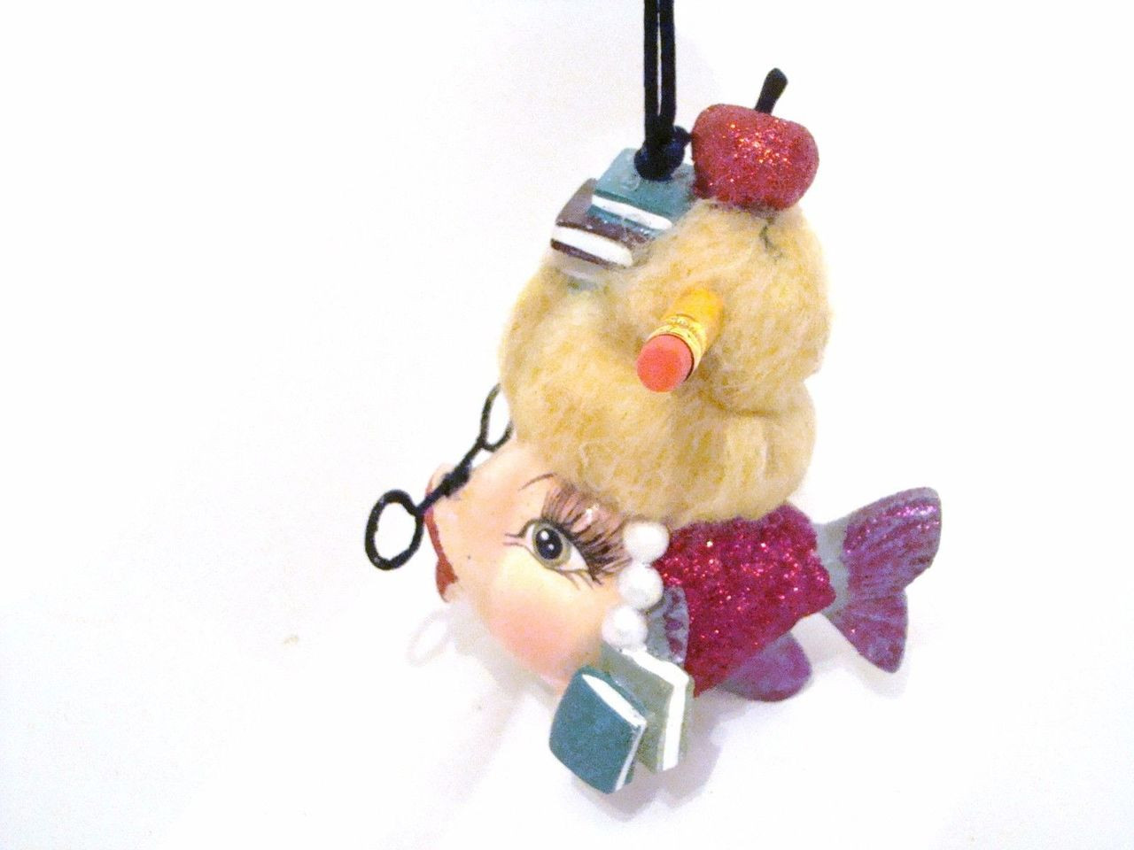 Katherine's Collection School Teacher Kissing Fish with Blonde Hair