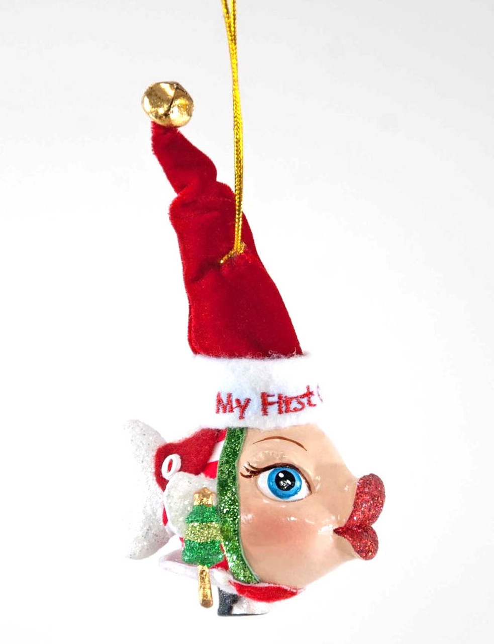 Katherine's Collection My First Christmas Kissing Fish White Tail