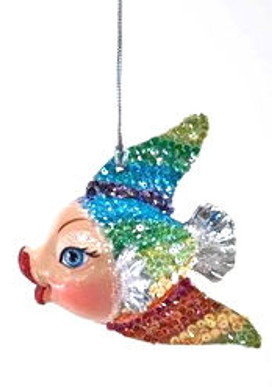 Katherine's Collection Rainbow Kissing Fish in Silver Tail
