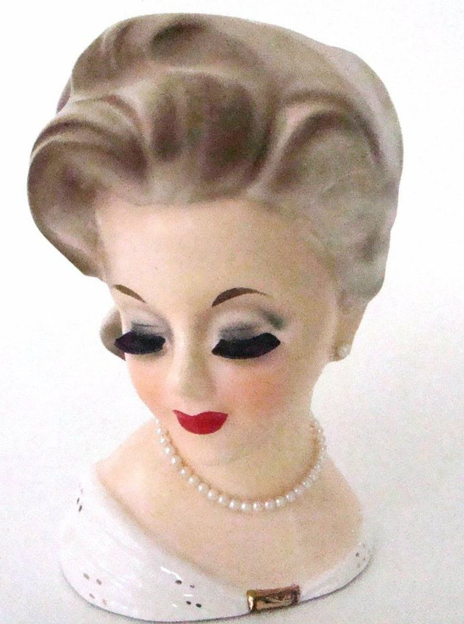 Vintage authentic Lady Head Vase Inarco E1067
