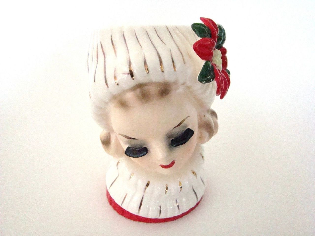 Vintage authentic Lady Head Vase Napcoware CX5409