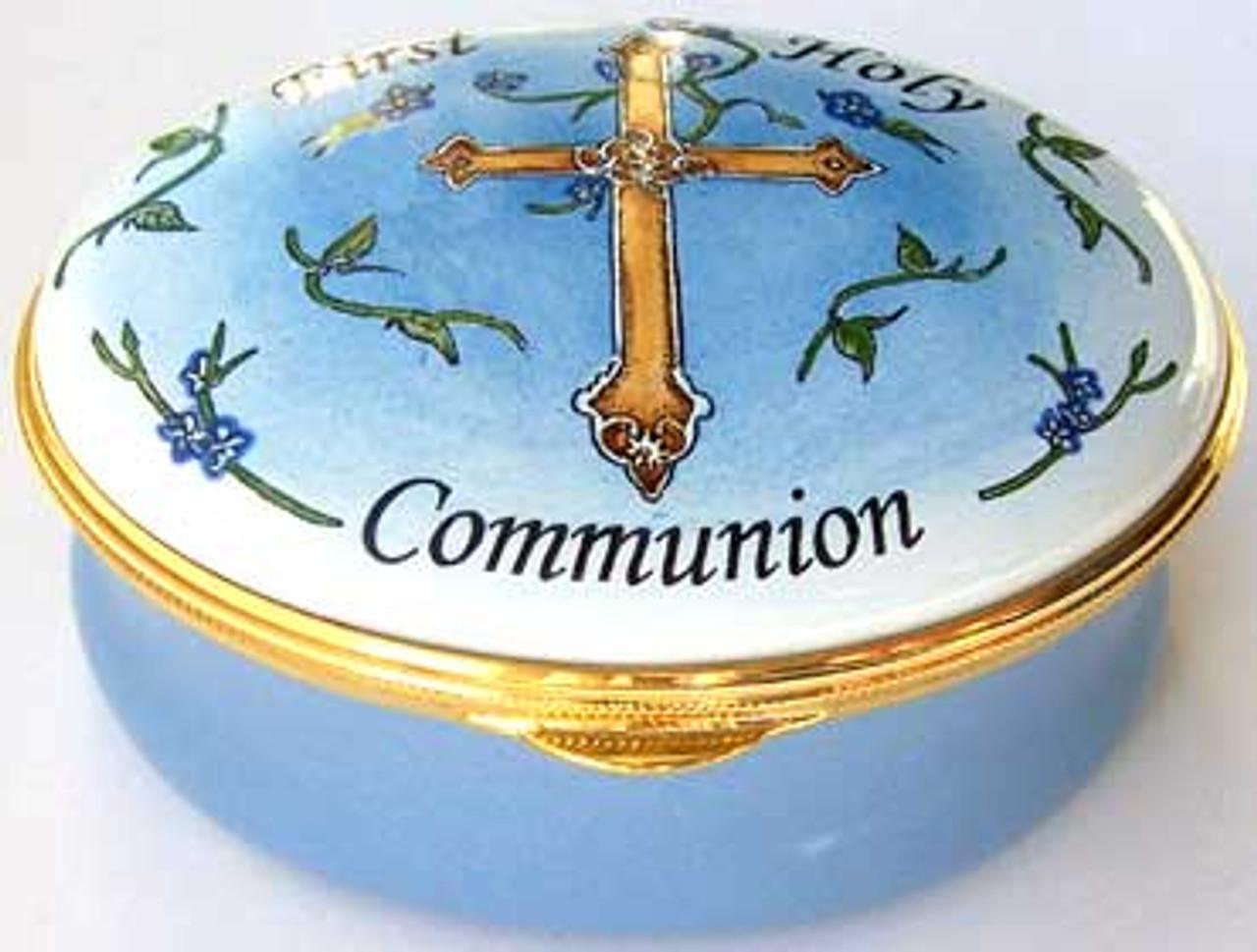 Staffordshire First Communion Blue