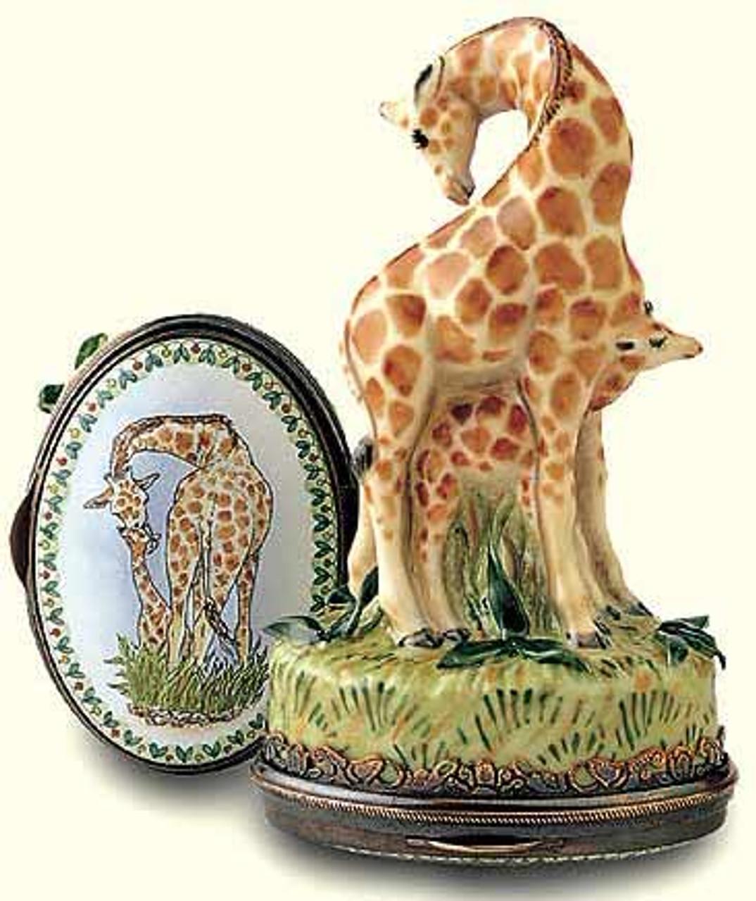 Staffordshire Giraffe & Calf B/B
