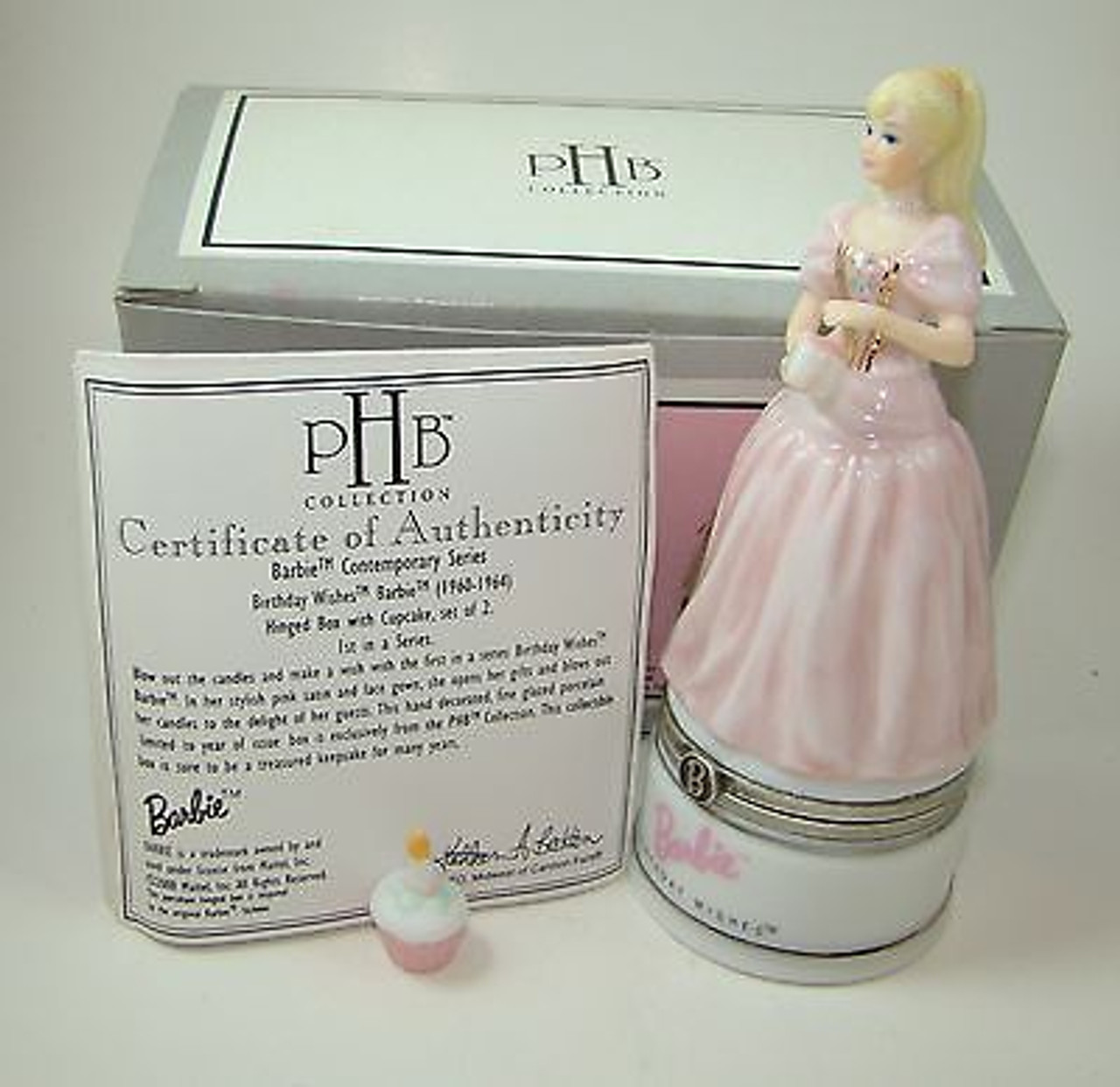 Midwest Barbie Celebration PHB Porcelain Hinged Box