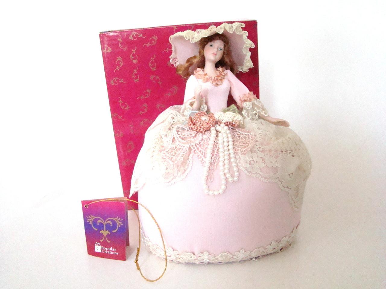 Quiet Elegance Half Doll Pin Cushion Doll