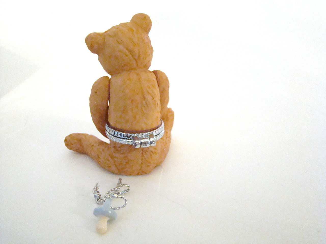 Jointed Brown Bear with Pacifier PHB