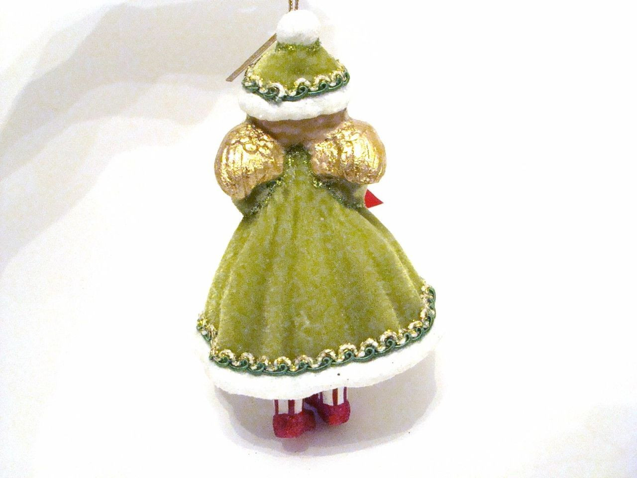 Katherine's Collection Retro Christmas Angel Girl in Green Ornament