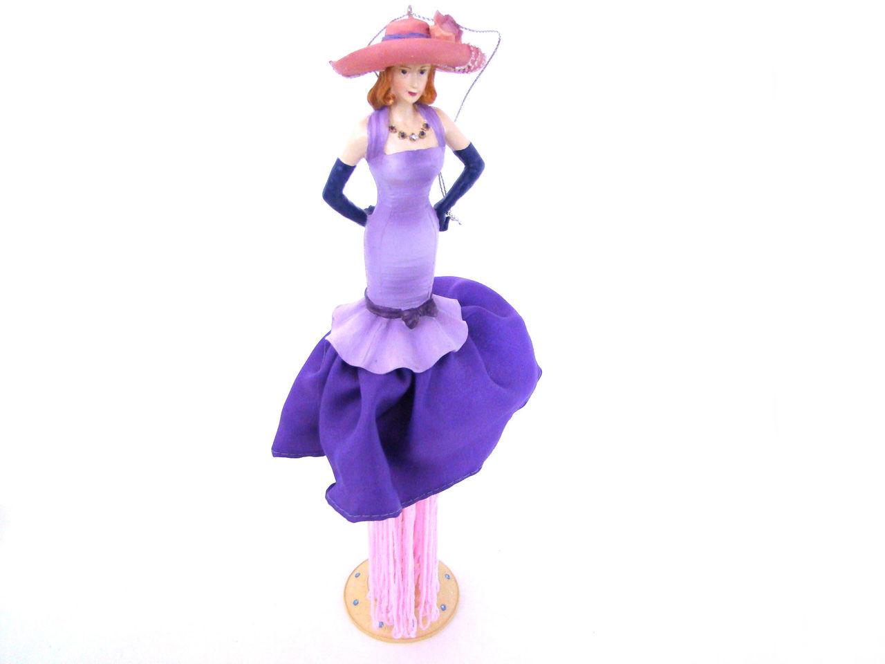 Purple & Lavender Pink Hat Tassel Doll TD290